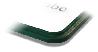 Prestige plastic name badges - Border closeup | www.namebadgesinternational.ae